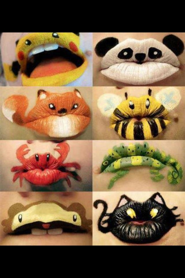 Weird\cool lip tattoo things!