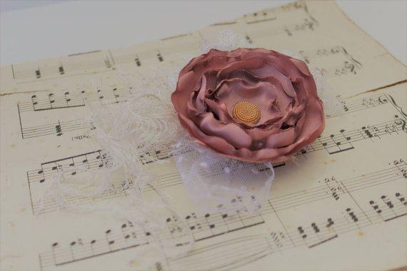 Handmade Floral wrist CorsageVintage Wedding by onebrassbutton