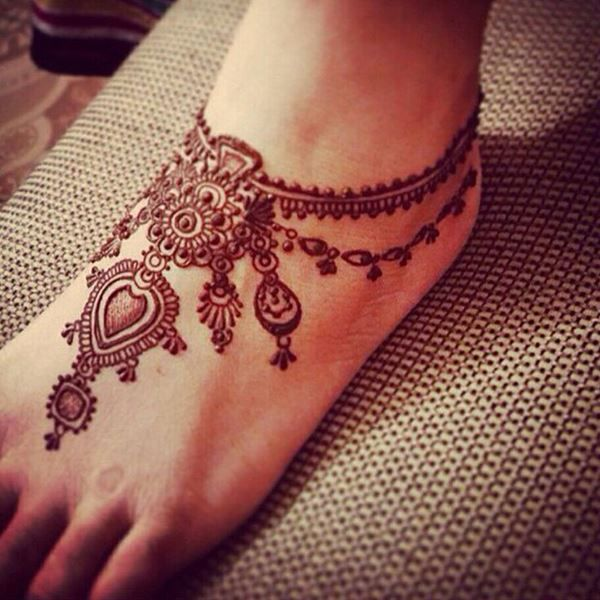 """I like the """"anklet"""" part of this one. maybe something decorative like this for my feather foot tattoo."""