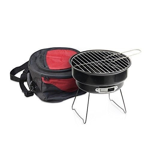 BBQ Portable Charcoal Barbeque Mini Grill Cooler Carrybag Outdoor Camping Garden #MoskusGear