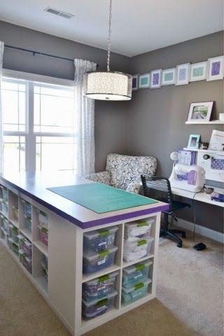 Mesa de trabajo con zona de almacenaje   Aprender manualidades es facilisimo.com