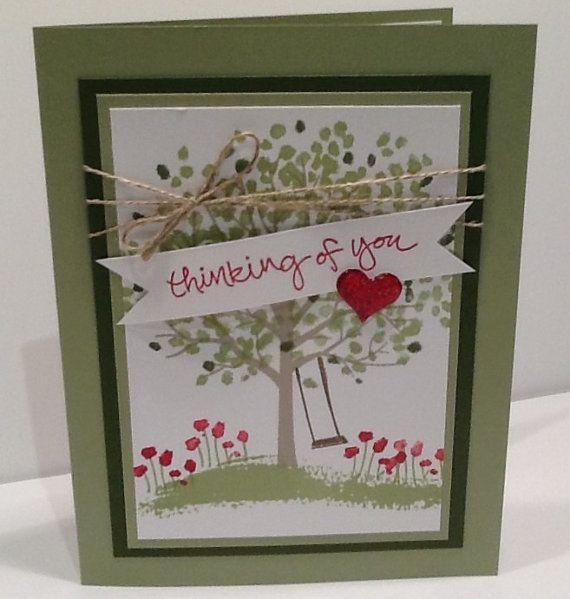 Thinking Of You Card  Handmade Stampin Up Card by Inked2perfection
