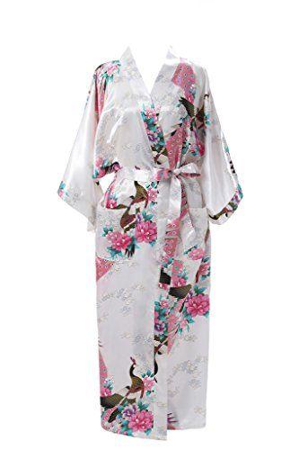 J.ROBE Women s Kimono Robe Long Printed Lotus Kimono Robe... https  be34cd8eb