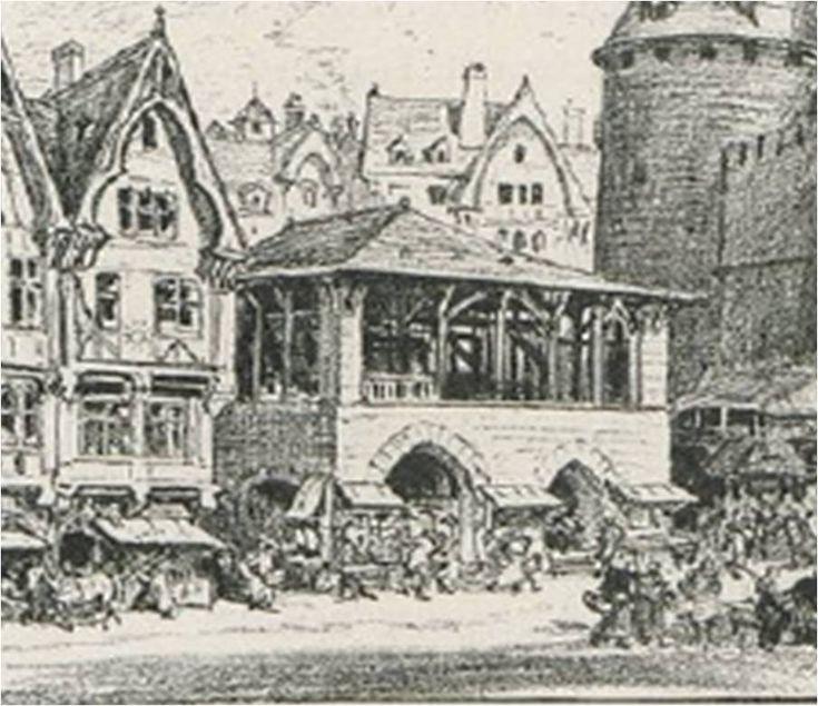 La Grande Boucherie, située rue Saint Denis derrière le Châtelet était le symbole de la puissance d'une profession au Moyen Age : les bouchers