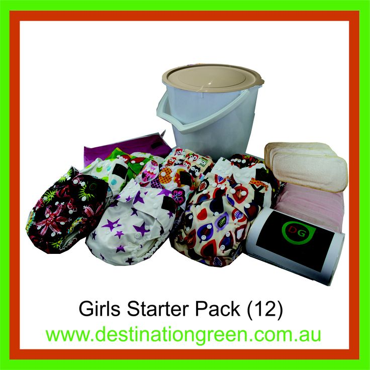 Girls' Starter Pack - includes 12 reusable nappies, $168.00