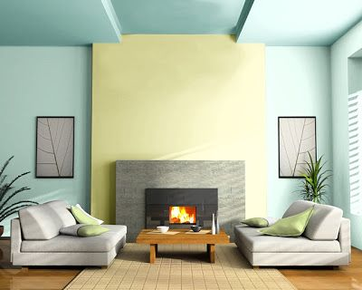 Hazel Walls Tupelo Tree Accent Wall Surf Green Ceiling