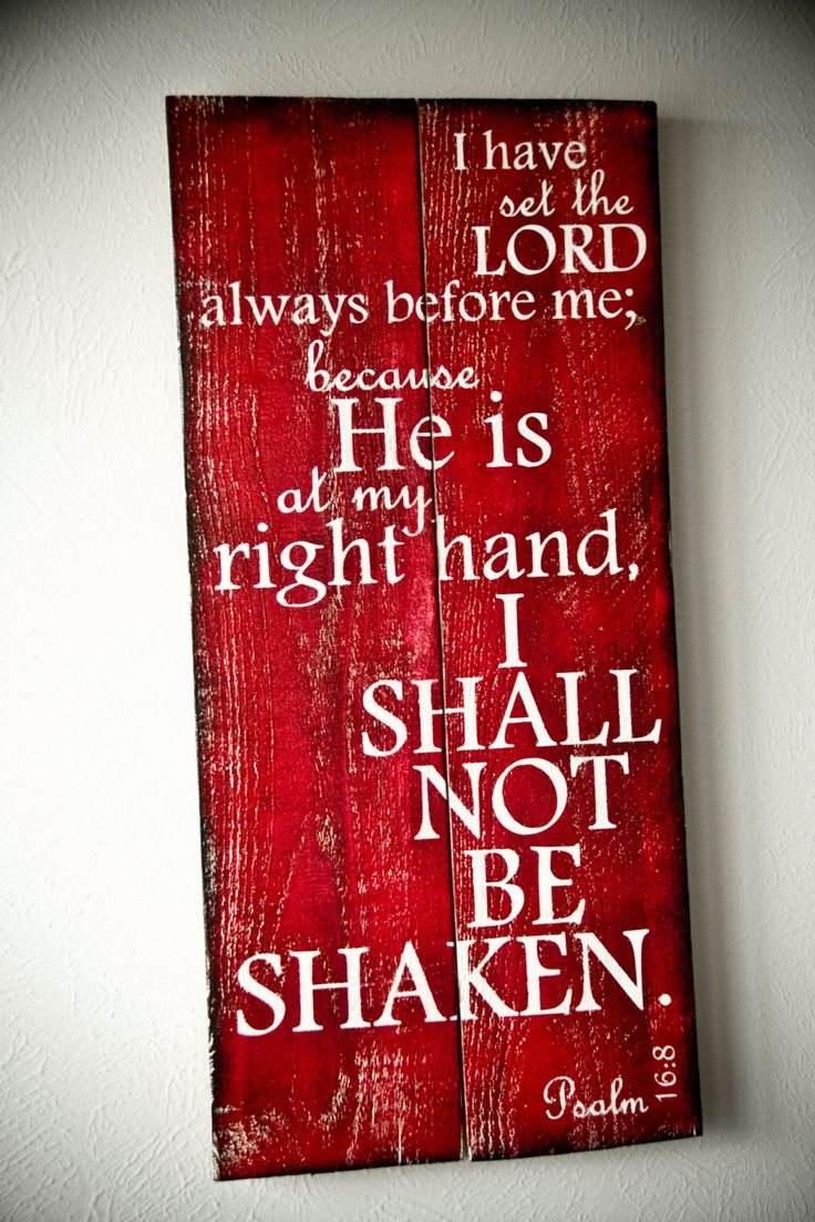 Scripture Art Wooden Sign Psalm 168 choose your by allisonhoopes, $45.00