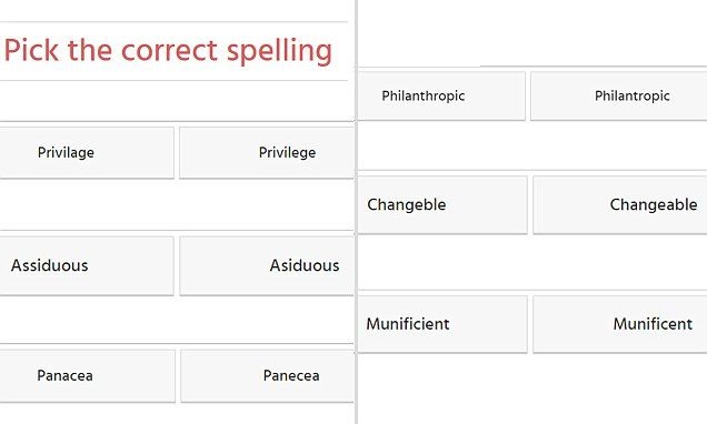 Can YOU pass this basic spelling test?