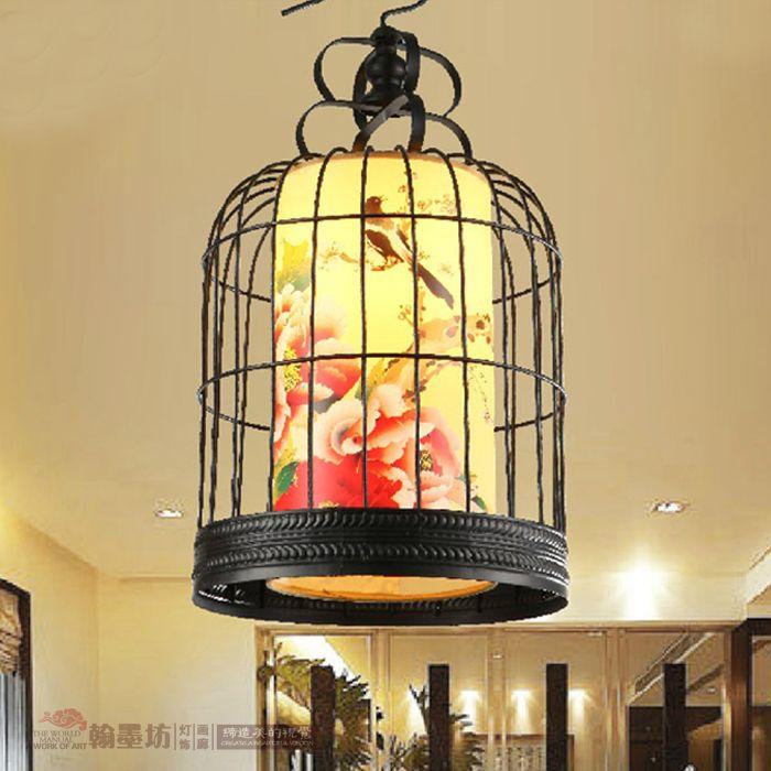 Jardin Urbano Cafe Art Valencia: Pas Cher Nouvelle Chinois Lustre Jardin Birdcage Lampe En