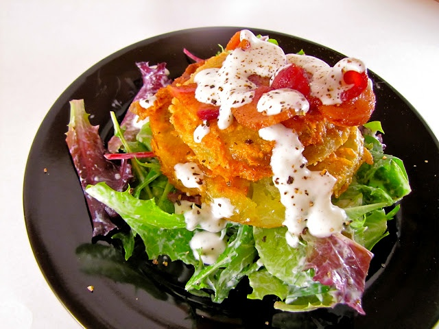 BLT Salad with Buttermilk Dressing.....BLT salad which was a fried ...