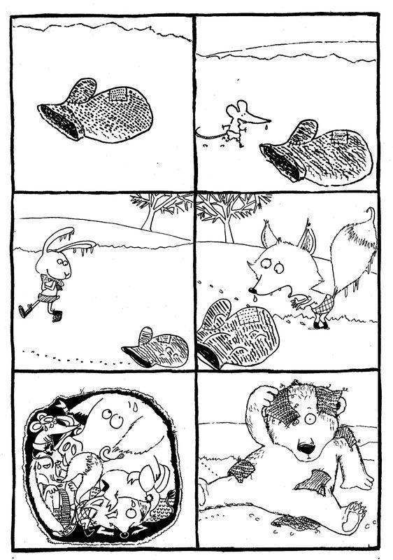 Images séquentielles : la moufle