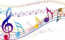 Foto mural Notas musicales