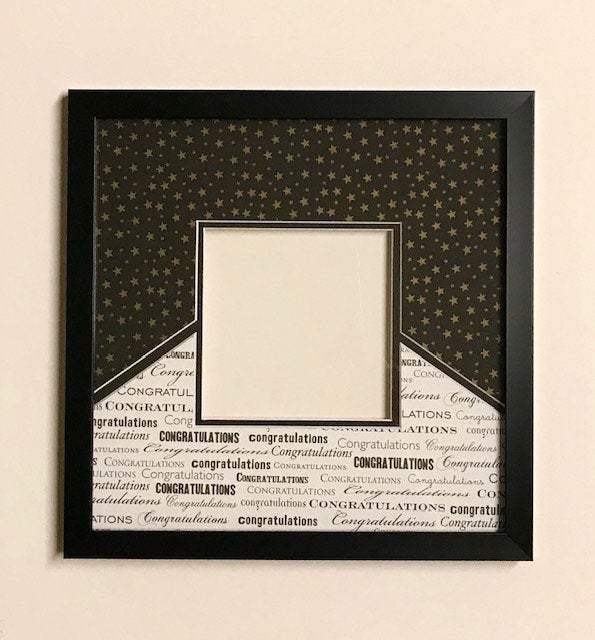Black White Congratulations And Gold Stars In 2020 With Images Photo Matting Gold Stars Frame