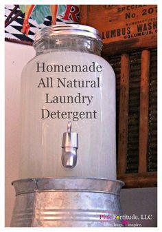 DIY Homemade All Natural Laundry Detergent Using Essential Oils by coconutheadsurvivalguide.com