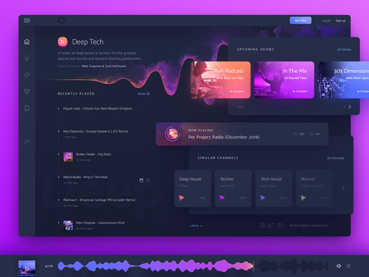 uixNinja - DI.FM    application,dashboard,design,fm,interface,material,music,player,radio,station,ui,web