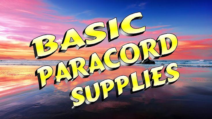 Basic Paracord Supplies