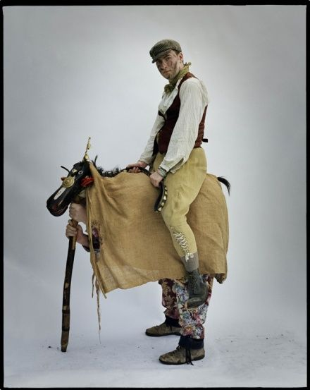 """The Hooden Horse"" of Kent from The Hoodening Group of mummers. The Hoodening Group perform a new play in the first week of Advent, following a tradition begun in the 1750s. Photo by Tim Walker."