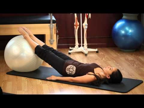 Pilates workout on the Stability ball from Upside Down Pilates