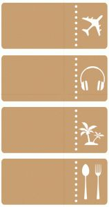 Silhouette Design Store - View Design #86733: travel tickets set