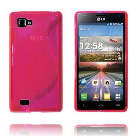 Transparent S-Line (Pink) LG Optimus 4X HD Cover