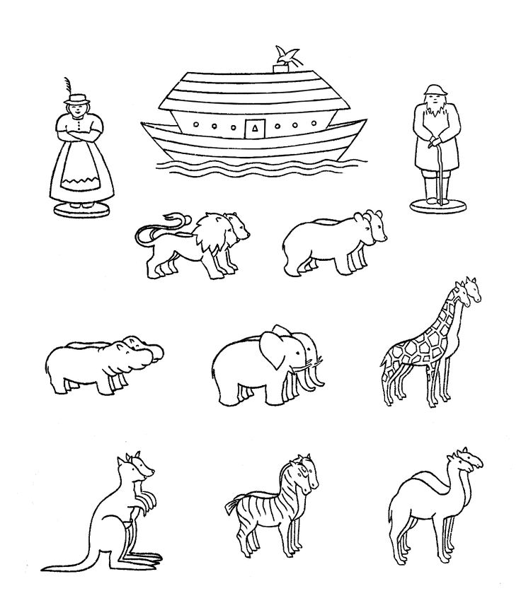 85 Noahs Ark Coloring Page Noah Pages Preschool