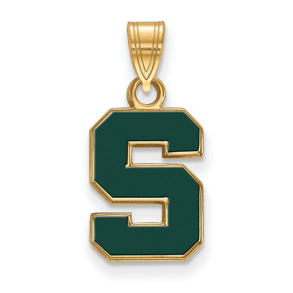 Michigan State Spartans Women's Gold Plated Small Enamel Pendant - $69.99