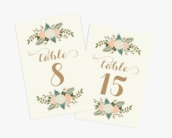 PRINTABLE Wedding Table Numbers 1-20  // by RememberNovemberInc