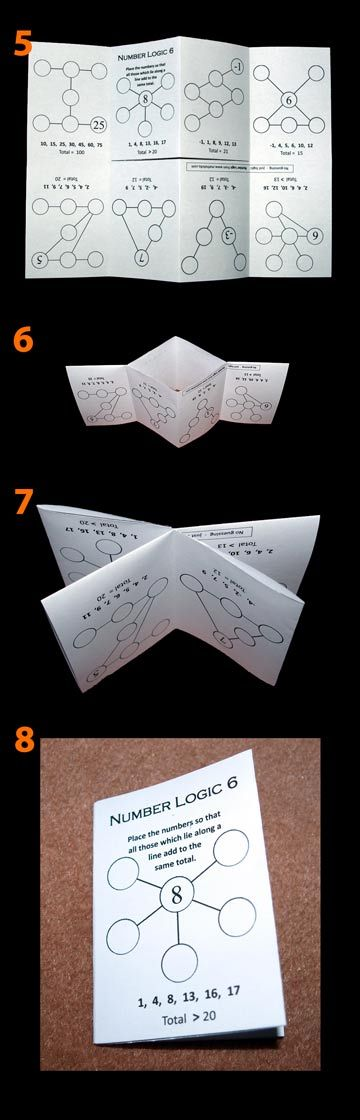 folding a maths puzzle book