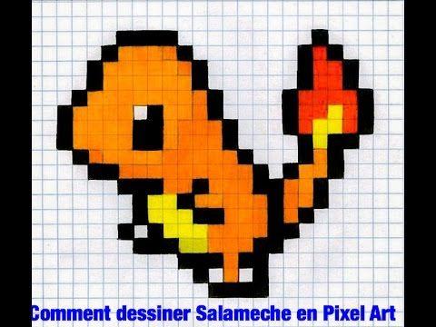 Tuto Salameche Pixel Art Youtube Pixel Art