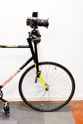"Robin ""Boon"" Nilssen's Hasselblad equipped fixie"