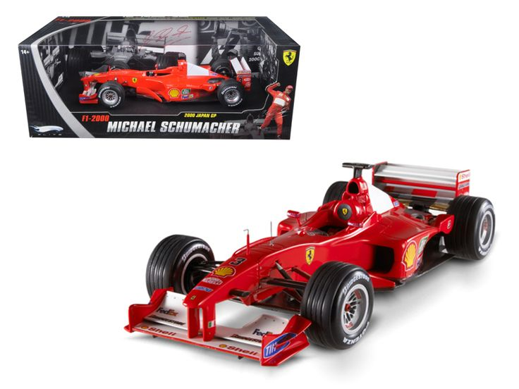 Hot wheels Ferrari F2000 Michael Schumacher Elite Edition 1 of 5555 Made 1/18 Diecast Model Car by Hotwheels - Brand new 1:18 scale diecast car model of Elite Ferrari F2000 F1 #3 Michael Schumacher die cast car by Hotwheels. Has steerable wheels. Brand new box. Rubber tires. Detailed interior, exterior. Made of diecast with some plastic parts. Dimensions approximately L-10, W-4, H-3.5 inches.-Weight: 4. Height: 8. Width: 15. Box Weight: 4. Box Width: 15. Box Height: 8. Box Depth: 7