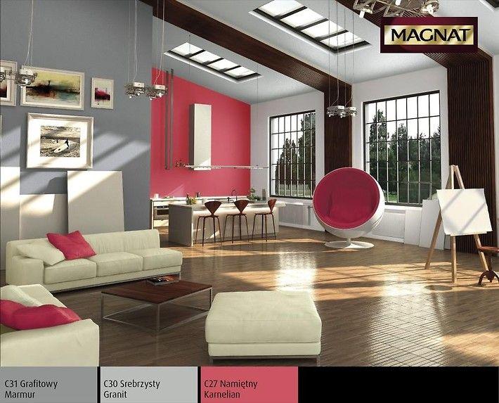 Kubistyczny w formie loft zbudowany z neutralnych kolorów bieli i popielu wyraźnie kusi namiętną czerwienią. Srebrzyste barwy granitu i marmuru miksowane z ognistą fantazją działają niezwykle ożywczo, sprawiając, że każda chwila spędzona w tym wnętrzu staje się niezapomniana.