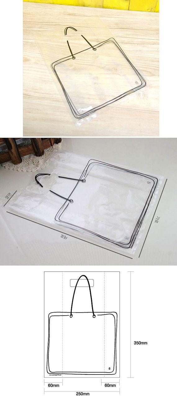 Illust Transparent Plastic Bag set 20 bags by WonderlandRoom, $4.30