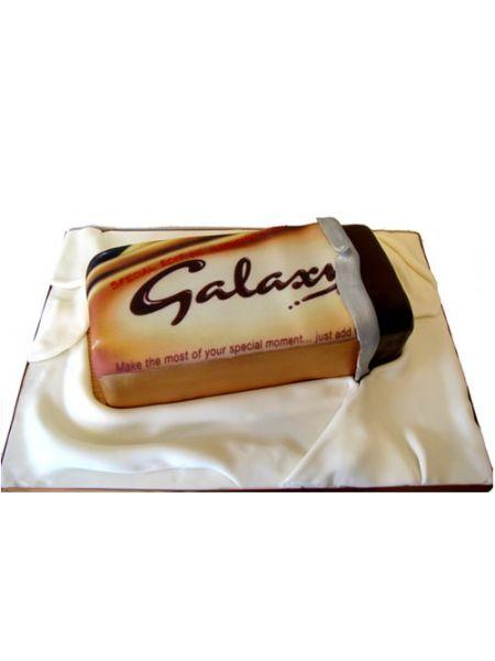 Galaxy Chocolate bar cake