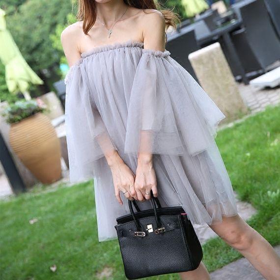 섹시한 가슴을 감싸 칼라 달콤한 기질 베일 새로운 도착 아름다운 드레스 요정 공주 드레스 퍼프