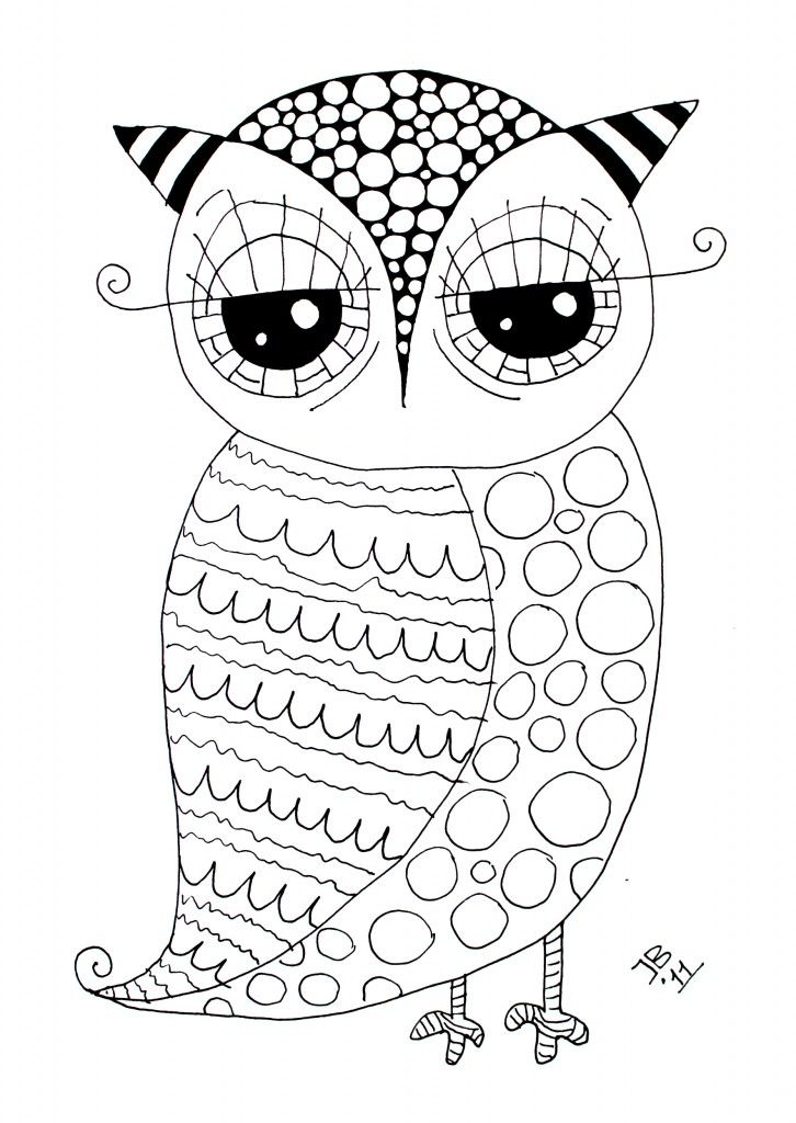 free owl coloring page - Owl Images To Color