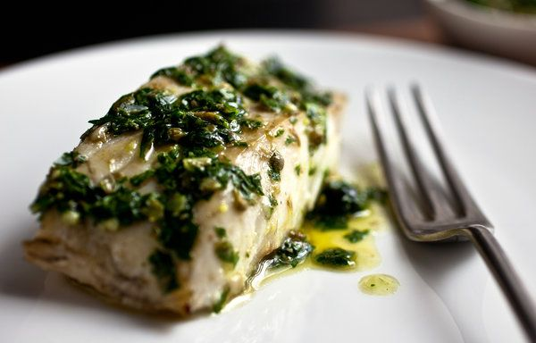 Parsley Salsa Verde With Grilled Cod Recipe - NYT Cooking #fishrecipe