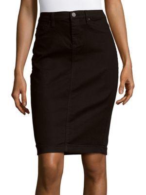 BLANK DENIM Fitted Denim Skirt. #blankdenim #cloth #skirt