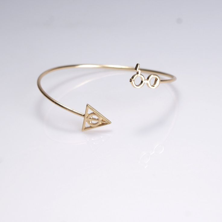 Harry Potter glasses and Death hallows artifact bracelet for women // Free shipping worldwide //