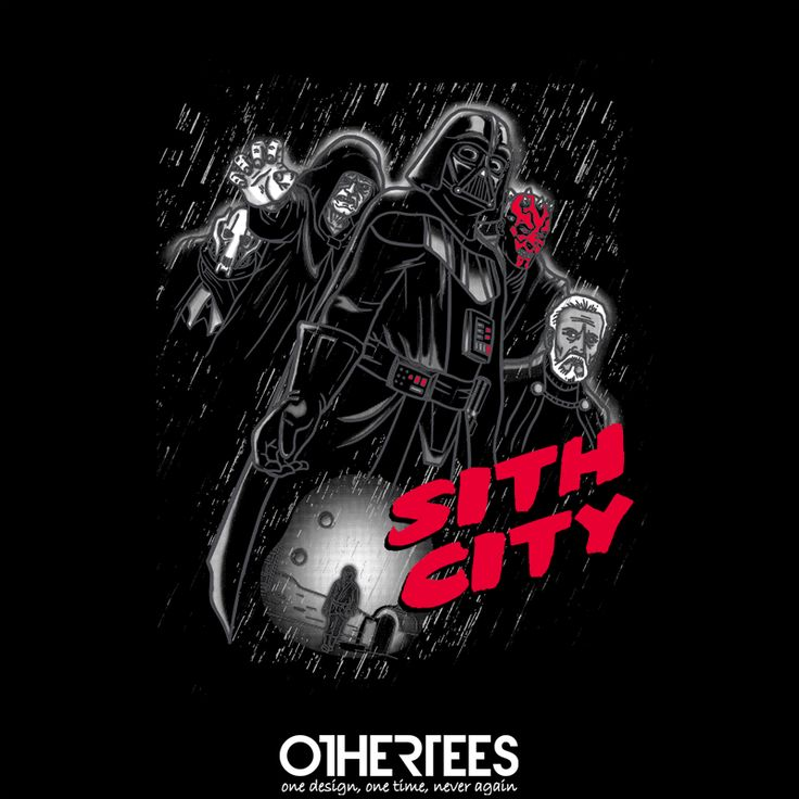 """Sith City"" by Faniseto T-shirts, Tank Tops, Sweatshirts and Hoodies are on sale until 4th November at www.OtherTees.com Pin it for a chance at a FREE TEE #starwars #sith #siths #sithcity #darkside #othertees"