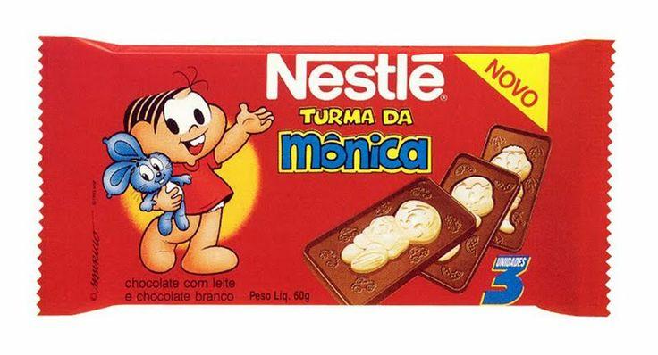 Olha aí /a Magali, o Cebolinha e o Cascão / o Bidu que late late /Auau/ Também virou chocolate ...