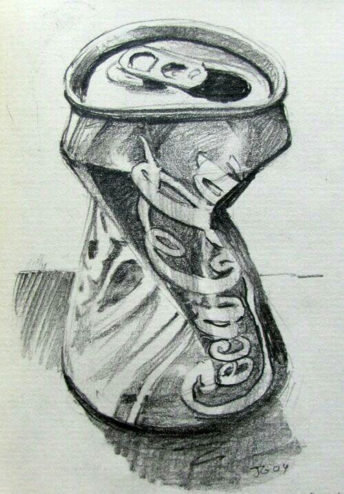 Sketch of Cola tin