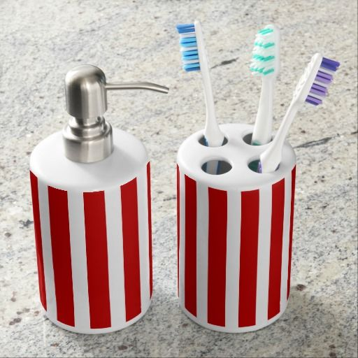 Best Soap Dispenser And Toothbrush Holder Sets Images On - Red toothbrush holder bathroom accessories for bathroom decor ideas