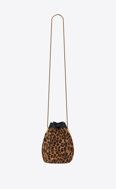8361f9e28c TALITHA small bucket bag in ponyskin-look leather with a leopard ...