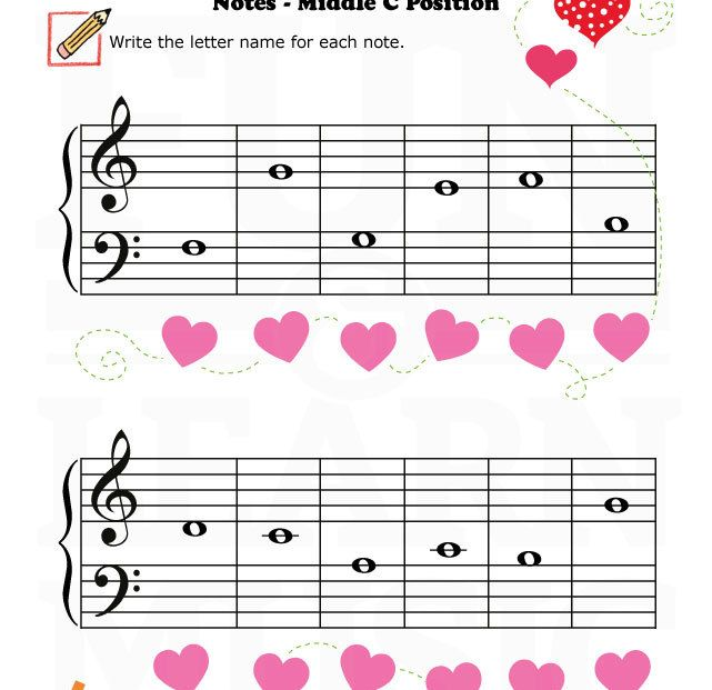 my valentine free piano notes