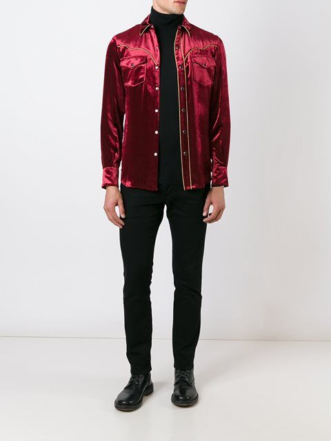 Saint Laurent рубашка в стиле вестерн