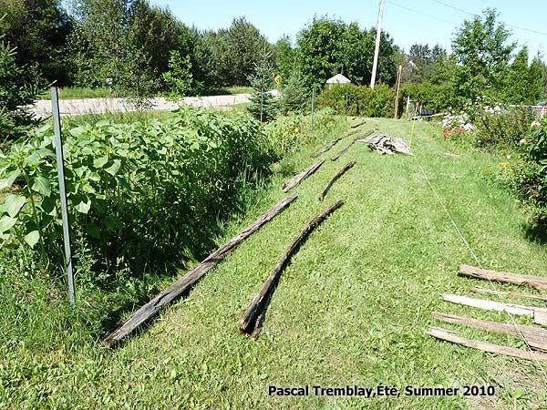 Poser une Clôture en perches de cèdre - La Clôture - Clôture de terrain - Clôturer son terrain - clôture antique. Voir : http://www.france-jardinage.com/cloture/cloture-perches.html
