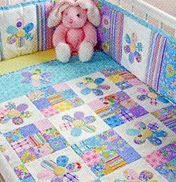 Flower Fancies. - From QUILTING FOR BABY