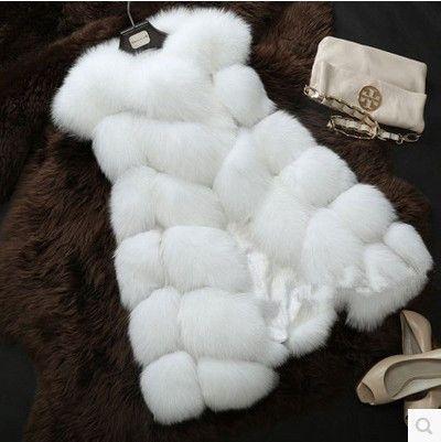 New 2016 Arrival Winter Warm Fashion Women Import Coat Fur Vest High-Grade Faux Fur Coat Fox Fur Long Vest Plus Size: S-XXXXL