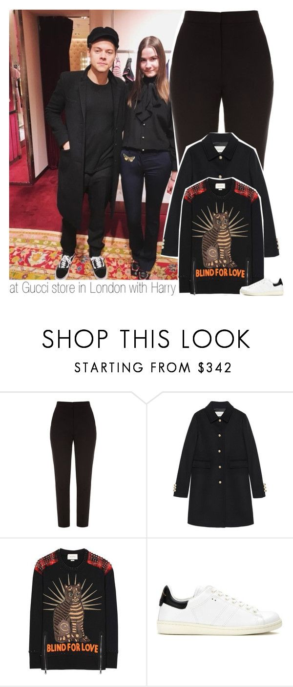"""""""at Gucci store in London with Harry"""" by hazzdimples ❤ liked on Polyvore featuring ElenaReva, Gucci, Isabel Marant, OneDirection and harrystyles"""